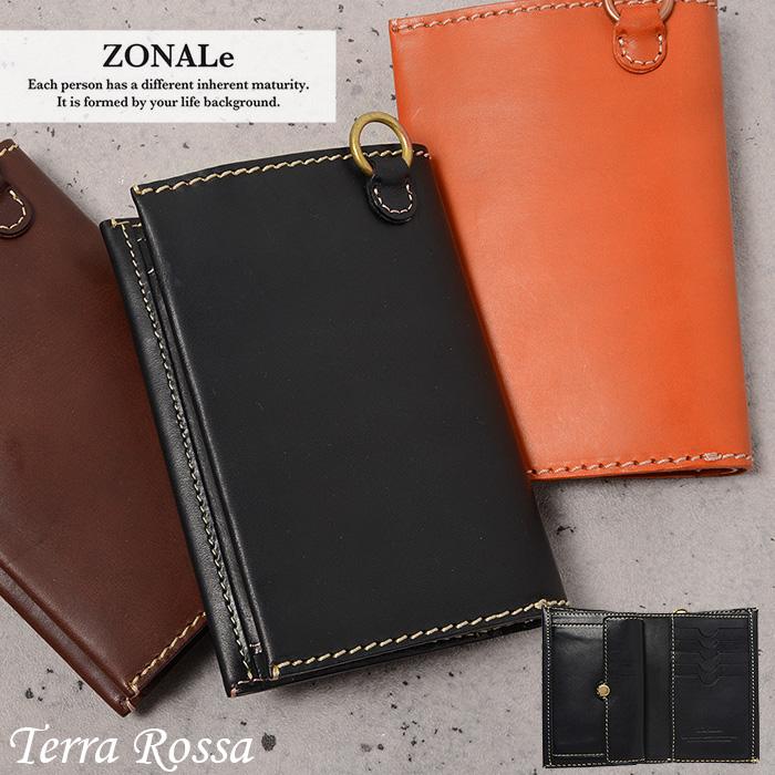 ゾナール 二つ折り財布 メンズ 縦型 ZONALe テラロッサ 31044 財布 革 イタリアンレザー あす楽対応 父の日ギフト