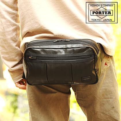 吉田カバン ポーター porter ヒップバッグ 子牛革 アルーフ ALOOF ポーター l s m バッグ 023-03761 WS