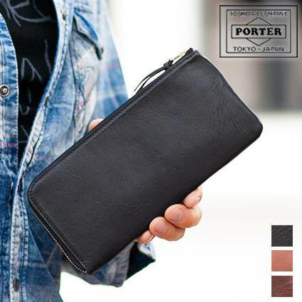 ポーター 吉田カバン porter 長財布 L字ファスナー ソーク SOAK 2018追加型 薄い ポーター 牛革 101-06055 WS