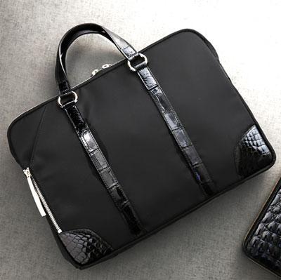【池田工芸】日本最大のクロコダイル専門店が贈るCrocodile brief case(クロコダイル ブリーフケース) バッグ【次回出荷日5月30日頃】