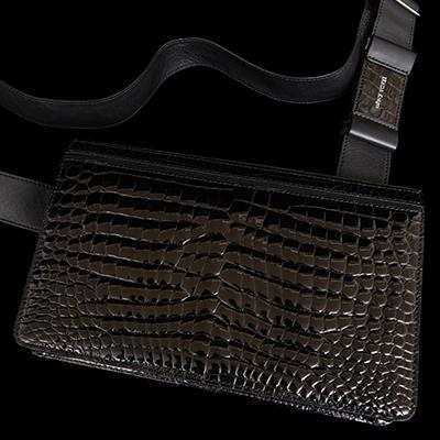 【池田工芸】日本最大のクロコダイル専門店が贈るAll Crocodile Messeger Bag(オールクロコダイルメッセンジャーバッグ) 【次回出荷日11月12日頃】