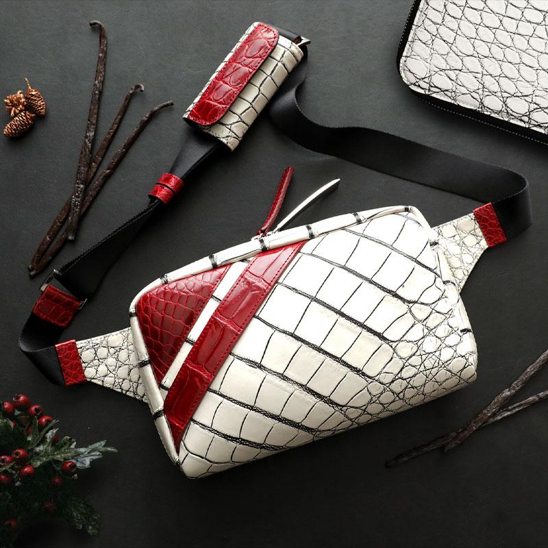 【池田工芸】《クリスマス限定》日本最大のワニ専門店が贈る<デッドストック>アリゲーター ボディバッグ ボイジャー【11月12日頃出荷】