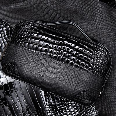 【池田工芸】日本最大のクロコダイル専門店が贈るCrocodile Python B.B.B. BuddyBostonBag(クロコダイルパイソン バディボストンバッグ) 【次回出荷日10月9日頃】