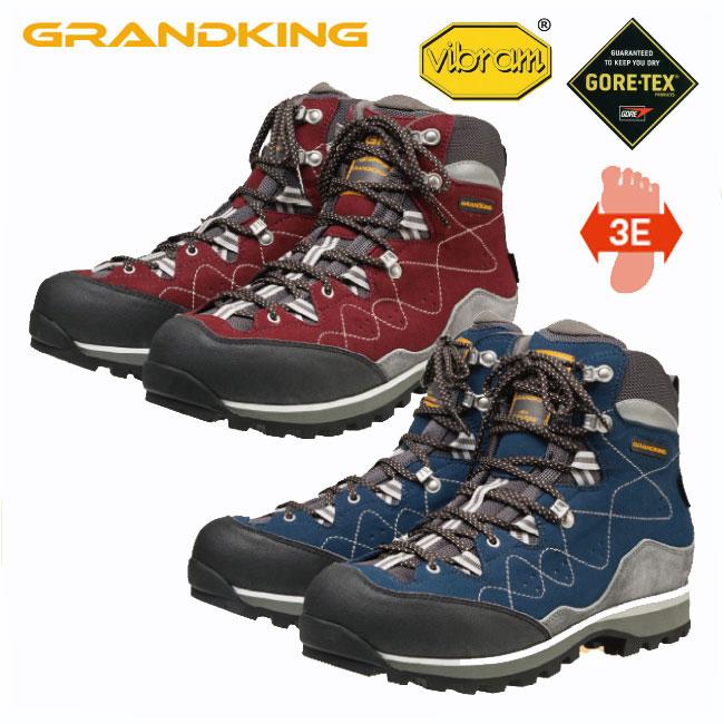 グランドキング 登山靴 GK83 ライトトレック 【GRANDKING】キャラバン トレッキング シューズ ブーツ アウトドアシューズ ハイキング 登山 幅広 防水 ゴアテックス