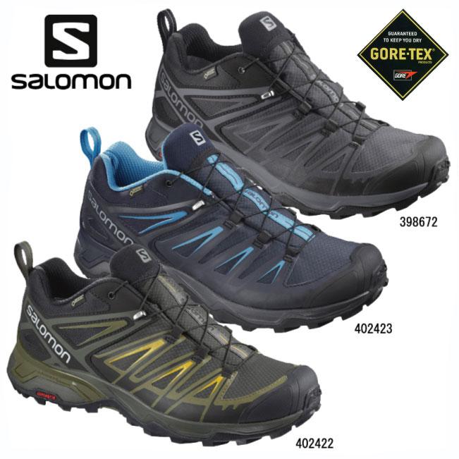 サロモン X-ULTRA3 GORE-TEX【SALOMON】トレイルランニングシューズ トレランシューズ アウトドアシューズ ハイキングシューズ アプローチシューズ