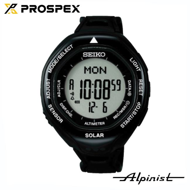 セイコー プロスペックス SBEB001-アルピニスト ソーラーデジタルウオッチ ブラック 【SEIKO】腕時計 高度計 気圧計 コンパス フィールドウォッチ