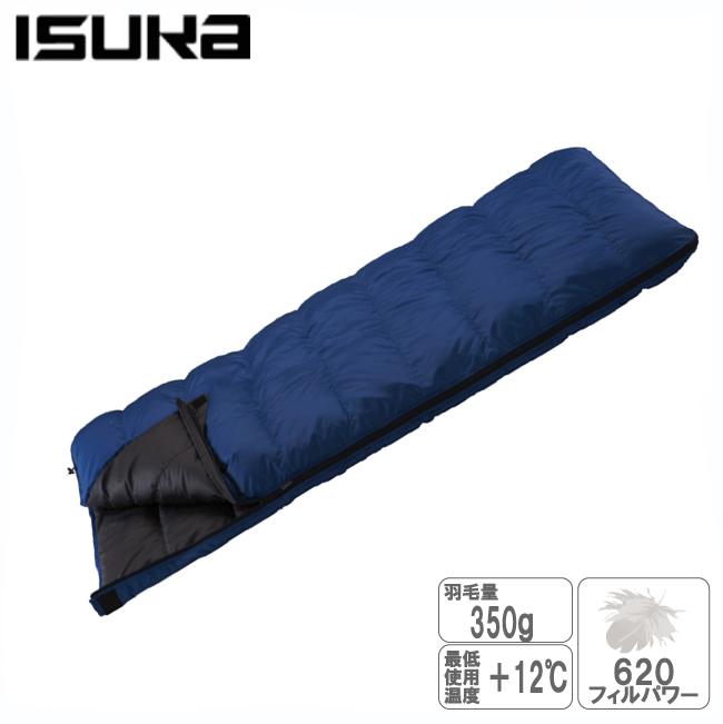 イスカ 139320 1レクタ350-ネイビーブルー ダウン寝袋【ISUKA】羽毛 シュラフ ダウン スリーピングバッグ 寝袋 キャンプ用品 登山用品