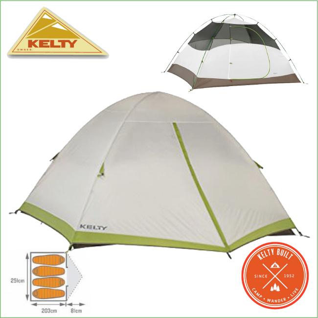 ケルティ 40812415-サリダ4 テント(4人用)【KELTY】キャンプテント ツーリングテント A型テント 登山用品 キャンプ用品