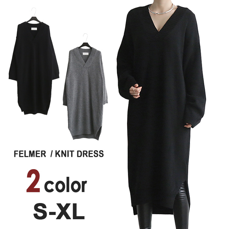4751400d1bb08 A dress winter clothing ゆる dress-style dress is warm in the fashion casual  clothes