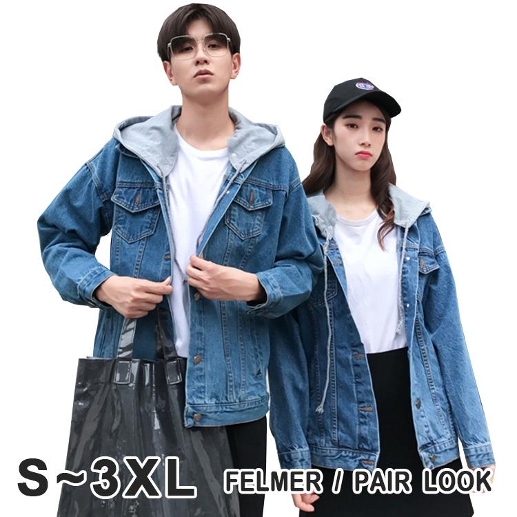 a3c4ddb77a FAVORI: The size hat demountability that denim jacket couple pair ...