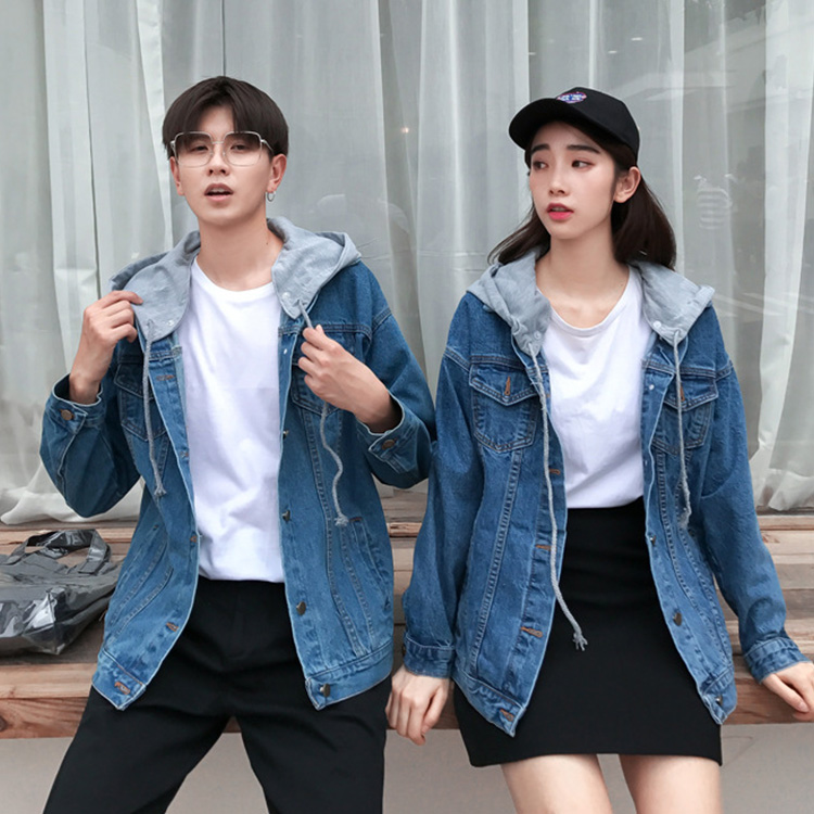 eadcfa860e ... The size hat demountability that denim jacket couple pair look couple  matching clothes matching ペアジャケット ...
