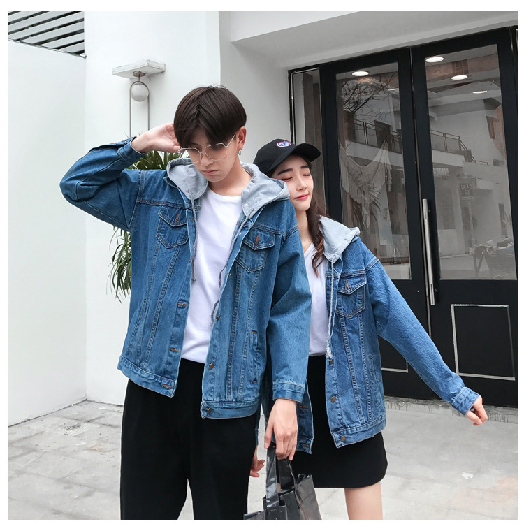 6669f8f622 FAVORI: The size hat demountability that denim jacket couple pair ...