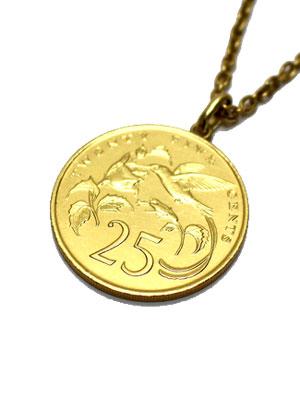 ペイバック PAYBACK ジャマイカゴールドコイン ペンダントトップ ネックレス JAMAICA 25C GOLD COIN NECKLACE