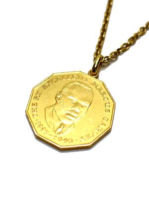 ペイバック PAYBACK ジャマイカゴールドコイン ペンダントトップ ネックレス JAMAICA 50C GOLD COIN NECKLACE