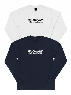 オンリーニューヨーク ONLY NY ロゴTシャツ INTERNATIONAL LS T-SHIRT -2.COLOR- メンズ ホワイト/ネイビー M/L/XL
