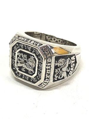 1万円以上で送料無料 リング 指輪 アクセサリー メンズ レディース 安心と信頼 グッズ プレゼント ハンドメイド ラスタバイブレーション RASTA LION COLLEGE 23号 VIBRATIONS RING デポー ワンカラー 19 21 ライオンカレッジ