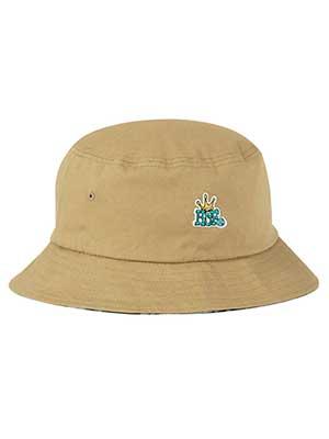 超特価SALE開催 1万円以上で送料無料 HUF リバーシブルバケットハット B-Mサイズ L-XLサイズ キャメル 全商品オープニング価格 ネイビー ハフ ブラウン -2.COLOR- REVERSIBLE BUCKET HAT 帽子 チェック CROWN メンズ