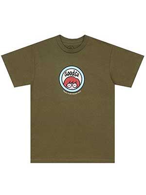 1万円以上で送料無料 アイテム勢ぞろい THE GOOD COMPANY ロゴプリントTシャツ M-XLサイズ サンド グリーン -2.COLOR- 人気 おすすめ 半袖 _FAIR_e RELAX TEE ザグッドカンパニー トップス