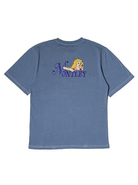 1万円以上で送料無料 驚きの価格が実現 Tシャツ ショートスリーブ 半袖 カットソー TEE トップス メンズ レディース 男女兼用 ストリート グラフィック ネイビー 国内在庫 1-3サイズ STITCH Call SS 刺繍 -NAVY- ブルー MONTLEY モーレー
