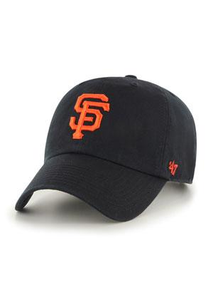 1万円以上で送料無料 帽子 キャップ ハット ヘッドウェア MLB メンズ レディース ユニセックス フォーティーセブン ブラック ベースボール いよいよ人気ブランド 47 '47 UP CLEAN ジャイアンツ -BLACK- 35%OFF GIANTS