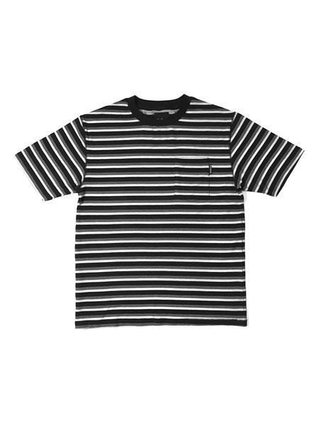 1万円以上で送料無料 半袖 ボーダー Tシャツ TEE ストリート 10%OFF メンズ レディース 男女兼用 フォーティスアンドショーティース 新作通販 Coast L-XL Tee ブラック Shorties 40s -BLACK-