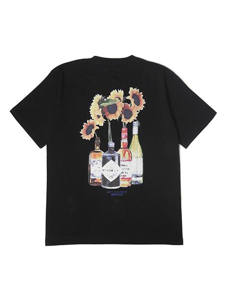 1万円以上で送料無料 プリント ロゴ 刺? 国内即発送 2020 半袖 ヘビーオンスTシャツ メンズ レディース 男女兼用 -BLACK- ストリート TEE モーレー ブラック MONTLEY SS SUNFLOWER 1-3サイズ