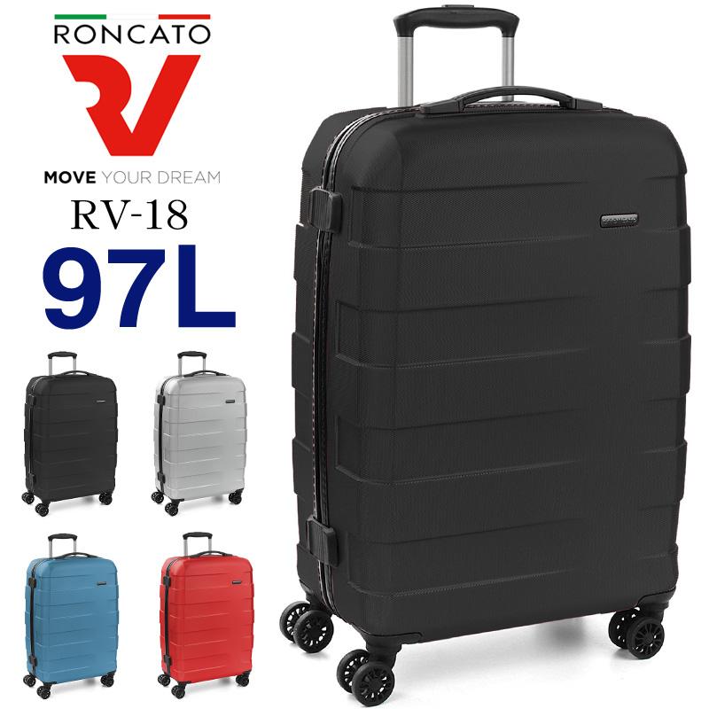 RONCATO ロンカート RV-18 97L 7~10泊 スーツケース キャリーケース キャリーバッグ ジッパー式 4輪 海外旅行 国内旅行 旅行 出張 ビジネス TSAロック ポリカーボネート トラベル 旅行用かばん トラベルバッグ 超軽量 大容量 5年保証 ヨーロッパ製 5801