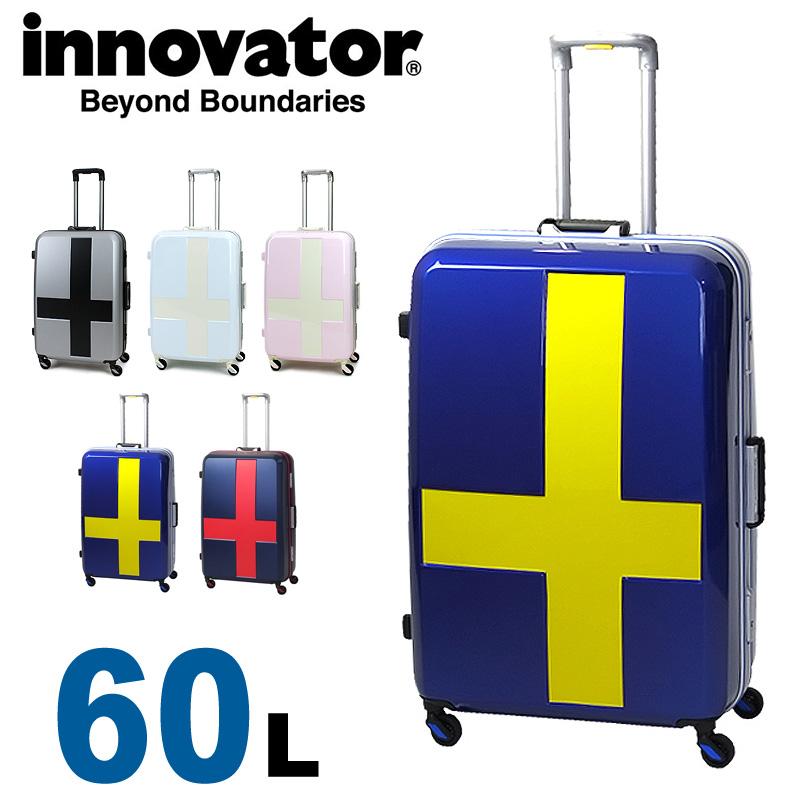 【正規品 2年保証】 スーツケース イノベーター INV58T innovator TSAロック 3泊~5泊 60L ハード フレームタイプ Mサイズ メンズ レディース 静音キャスター カードキー 国内旅行 修学旅行 海外旅行 トラベル