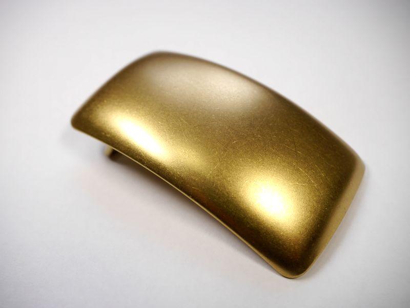 安心 高品質の日本製 オンラインショッピング 真鍮製 ベルト幅40mm用 馬具職人工房 奉呈 プレーンバックル ブラス ゴールド