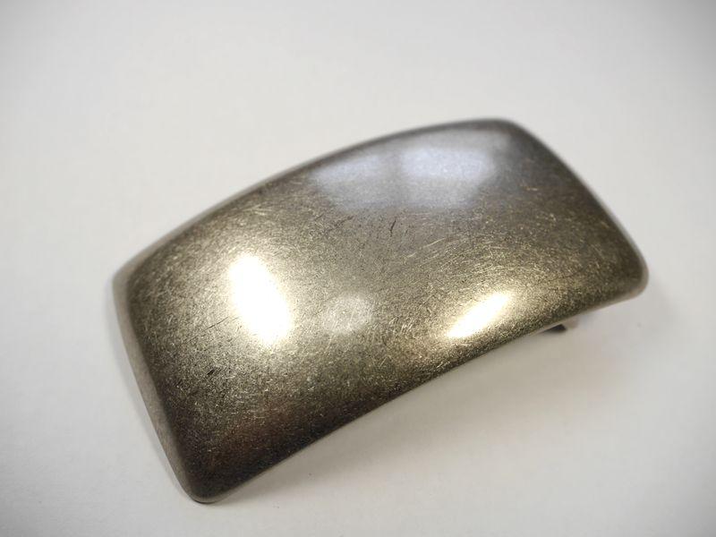 安心 高品質の日本製 真鍮製 期間限定送料無料 ベルト幅40mm用 シルバー 定価の67%OFF ブラス プレーンバックル 馬具職人工房