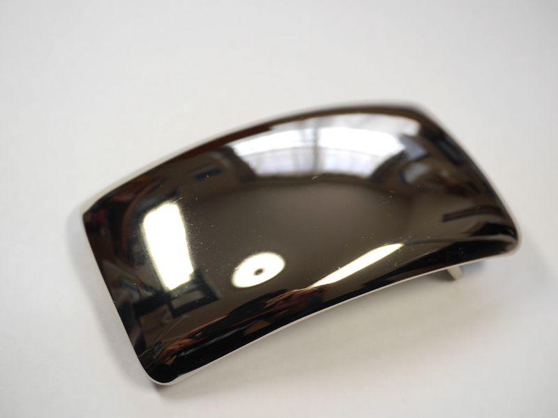 安心 高品質 高品質の日本製 真鍮製 ベルト幅40mm用 馬具職人工房 鏡面 プレーンバックル 日本メーカー新品 シルバー