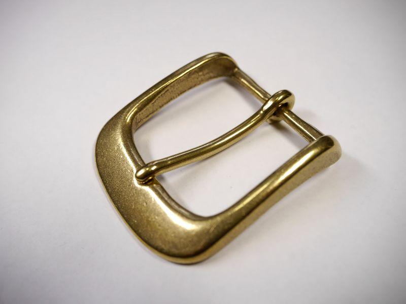 安心 高品質の日本製 真鍮無垢 ベルト幅40mm用 2020 通しバックル ゴールド 馬具職人工房 ブラス 格安