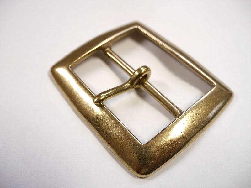 安心 高い素材 高品質の日本製 ベルト幅50mm用 スクエアバックル 馬具職人工房 ブラス ゴールド 全品最安値に挑戦 真鍮無垢
