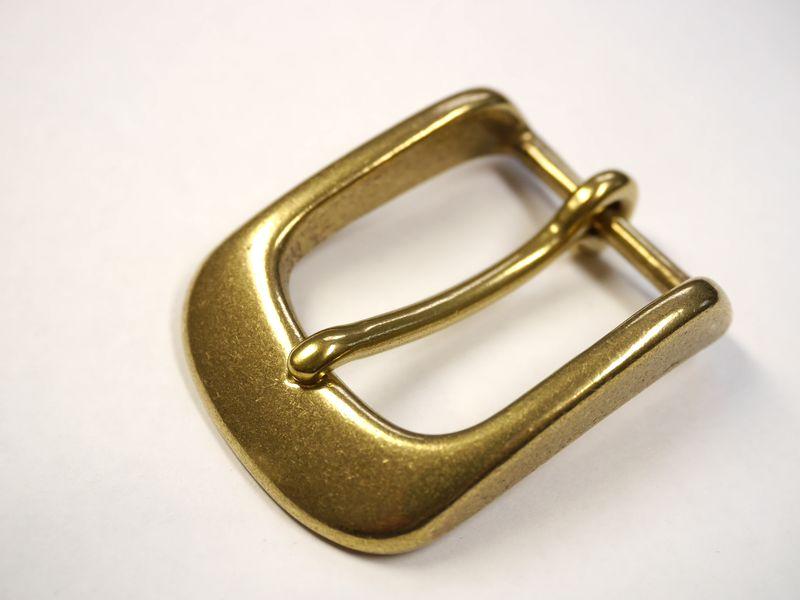 安心 高品質の日本製 真鍮無垢 定番の人気シリーズPOINT ポイント 入荷 商店 ブラス ゴールド ベルト幅30mm用 バックル 馬具職人工房