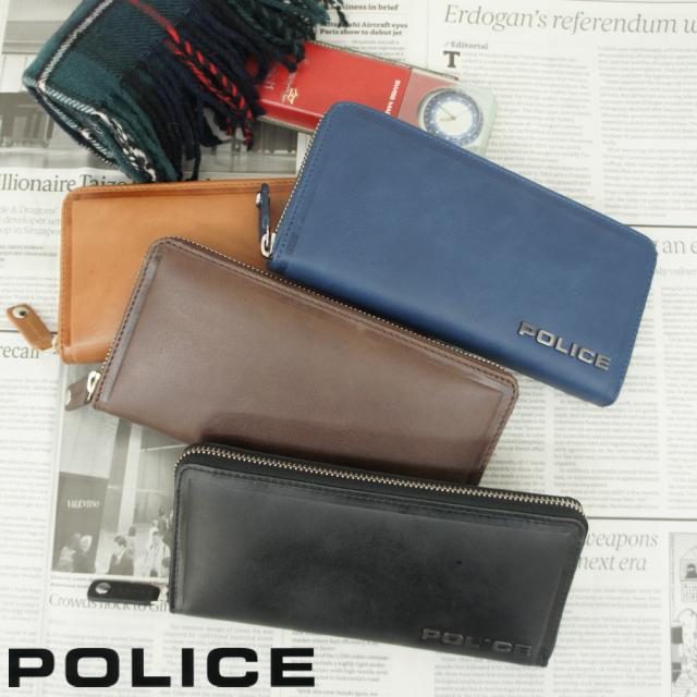 3270309804ba ポリス POLICE EDGE ラウンドファスナー長財布 【pa-58002】長財布 ファスナー 送料