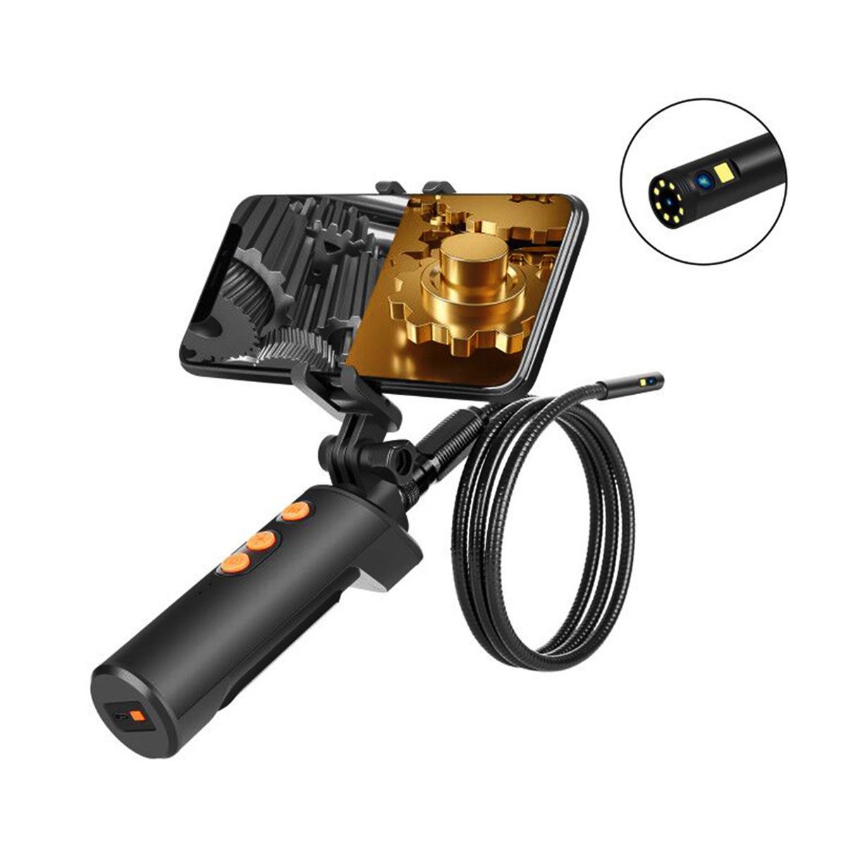 内視鏡 検査カメラ ワイヤレス 工業用内視鏡 デュアルレンズ IP68防水 9LED 調整可能 USB充電式 8MM超薄型レンズ 1080P ブラケット 送料無料 スマホ専用 wifi接続 公式ストア 5M 家庭掃除 車 設備の点検 HDカメラ 排水口 新作アイテム毎日更新 スコープカメラ
