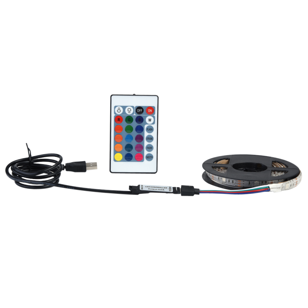 LEDテープライト DC 5V USBライトストリップ テレビ PC照明 リモコン付き 防水 防塵 送料無料 赤外線リモートコントロール 調光調色 信頼 多彩 120LED 4m 5050 定番から日本未入荷 RGB 屋内外装飾 LEDテープ型