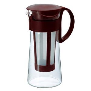 ストレーナーにコーヒー粉を入れ、水でドリップするだけ。珈琲 coffee アイスコーヒーマイルド コーヒー  【送料無料】ハリオ 水出しコーヒーポット 5杯用(ブラウン)アイスコーヒーマイルド100g コーヒー 珈琲