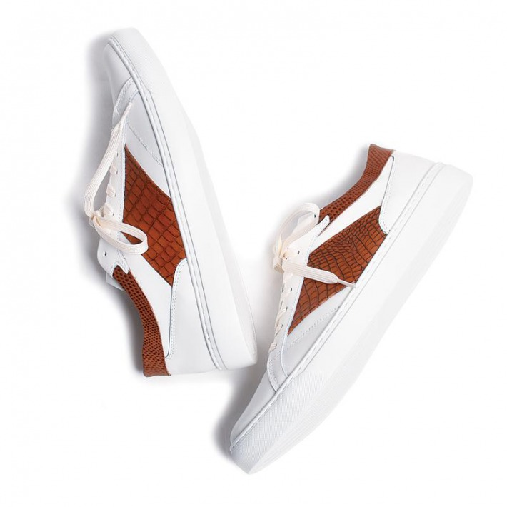 レザースニーカー ブラウン×ブラウン 国産天然皮革 本革 革靴 バジョルゴ メンズシューズ B1-1-2004-05 値引き BajoLugo 大決算セール