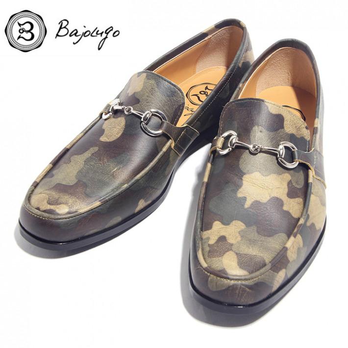 レザービットローファー カモフラージュミリタリー シルバービット 国産 革靴 19-BajoLugo-H1601 公式ストア 牛革 ついに再販開始 紳士靴 BajoLugo バジョルゴ