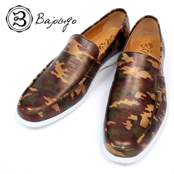 レザーローファー カモフラージュブラウン 国産 革靴 紳士靴 牛革 BajoLugo バジョルゴ a62s