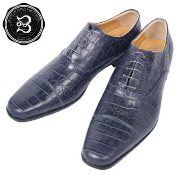 ストレートチップ クロコダイル ネイビー 国産天然皮革 本革 バジョルゴ a44s 新着 メンズシューズ 直輸入品激安 BajoLugo 革靴