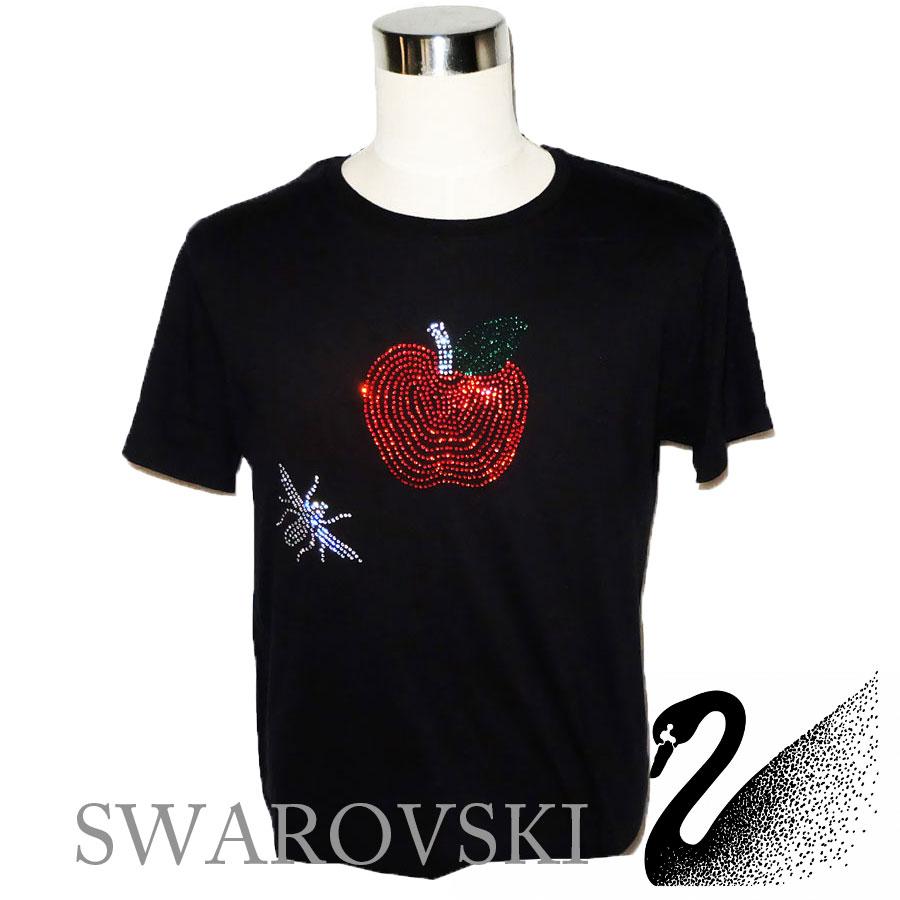 スワロフスキー ラインストーン リンゴ&蜂Tシャツ人気 メンズ お洒落 大人 ハイブランド セレブ