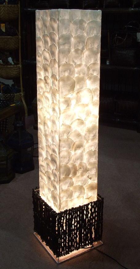 ◆シェルと小枝のランプ◆~電球&配線コード・セット価格~(インテリアランプ・スタンド・間接照明)