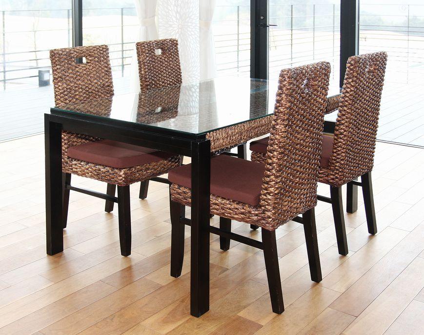 ◆【HAVEN】ヒヤシンスダイニング5点セット◆ダイニングテーブルとチェア4脚のセットです(リビング家具・リゾート家具モダンアジアン・バリ風・オリエンタル)