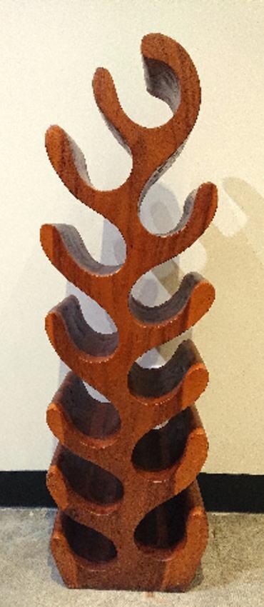 ◆チーク材 モンステラワインラック Sサイズ◆(シェルフ・ディスプレイ棚古木・ナチュラルテイスト・無垢材)