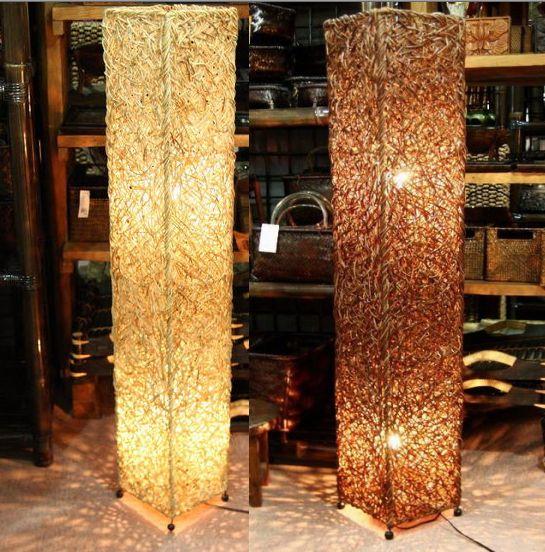 ◆ラタンのランプ 高さ120cm ◆~電球&配線コード・セット価格~(インテリアランプ・スタンド・間接照明)