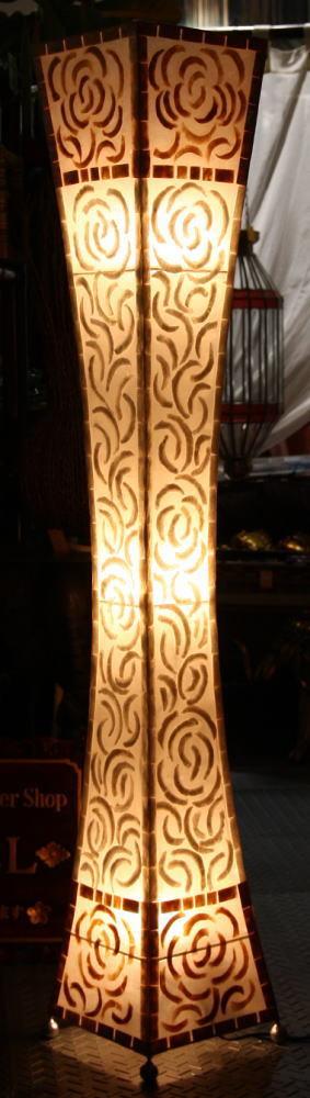 ◆シェルのローズランプ 150cm◆~電球&配線コード・セット価格~(インテリアランプ・スタンド・間接照明)