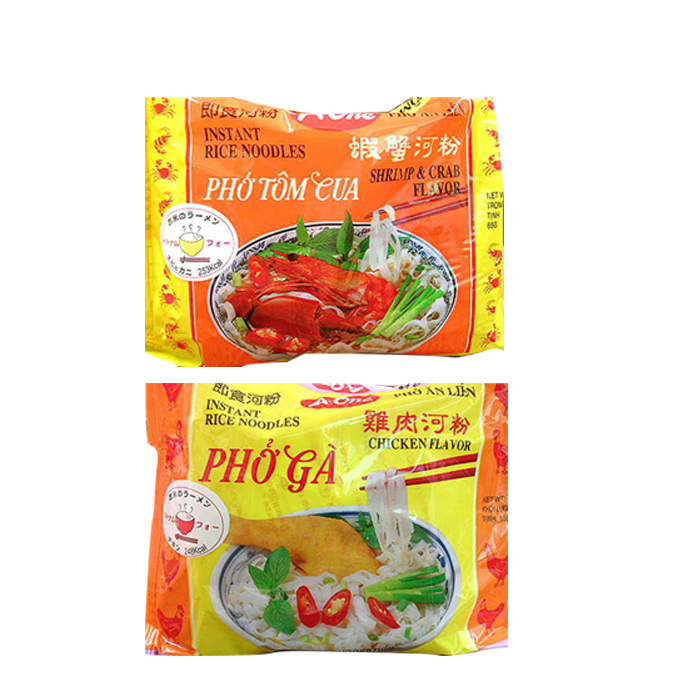 インスタントフォー2種類600食セット(チキン味300食、エビカニ味300食)