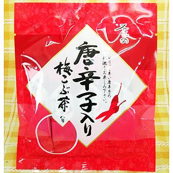 5袋セット不二の唐辛子入り梅こぶ茶  (スティック2gX10包)X5袋